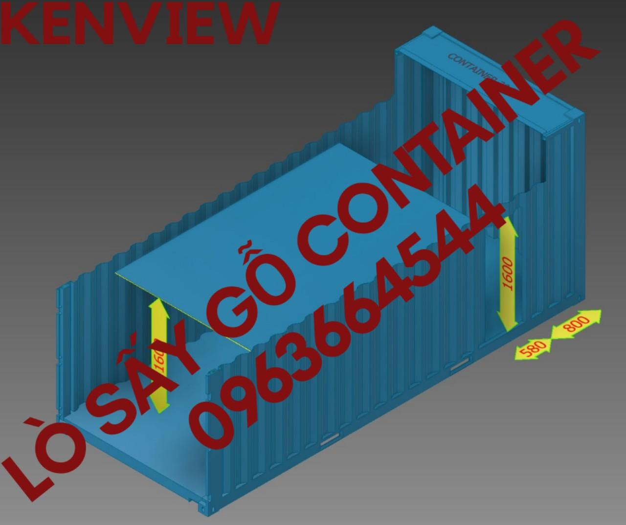 Lò sấy gỗ công nghiệp lắp bằng container giá rẻ