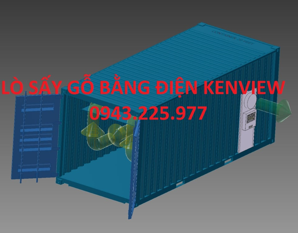 Lò sấy gỗ bằng Container