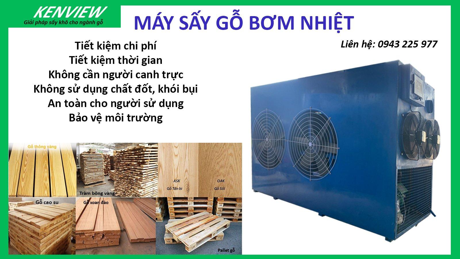 Máy sấy gỗ bơm nhiệt