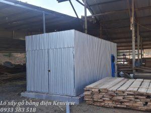 Lò sấy gỗ thiết kế bằng tôn cách nhiệt của Kenview