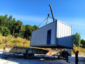 LÒ SẤY GỖ CONTAINER 20FEET